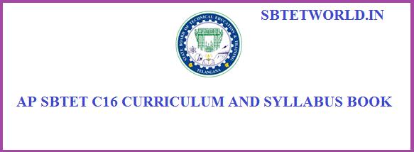 ap sbtet c16 syllabus, ap sbtet c16 syllabus for diploma, ap sbtet diploma c16 syllabus, ap sbtet c16 syllabus for Polytechnic