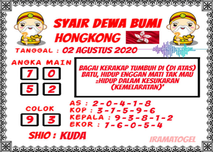 Kode syair Hongkong Minggu 2 Agustus 2020 280