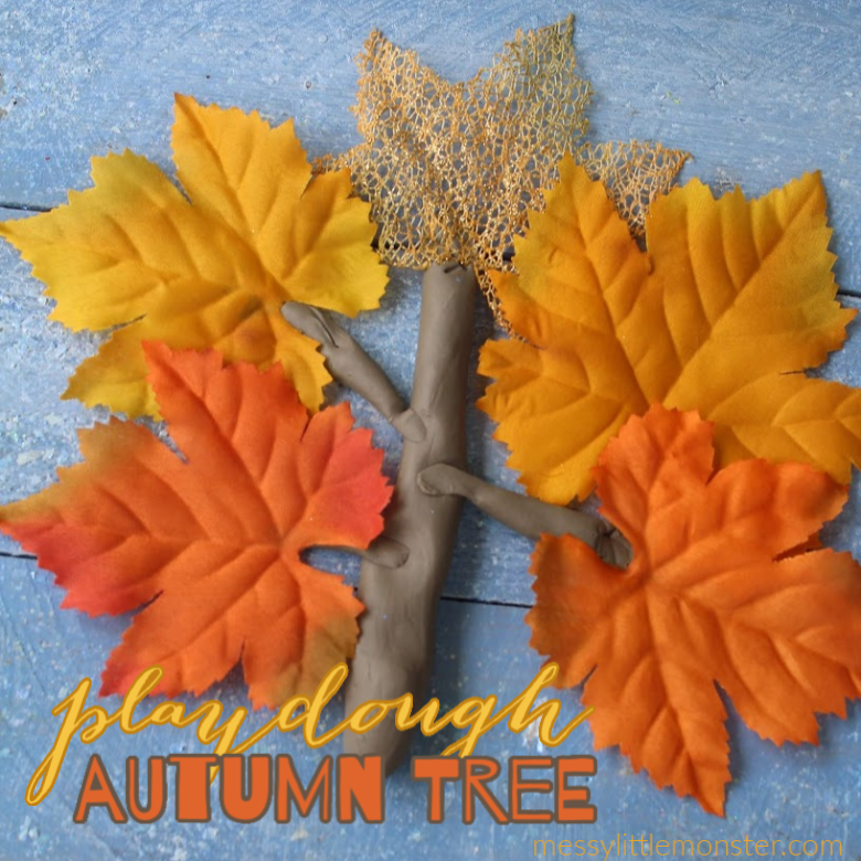 Autumn playdough activity