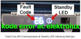 kode error ac elektrolux