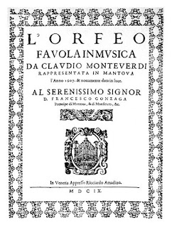 Picture of L'Orfeo frontispiece