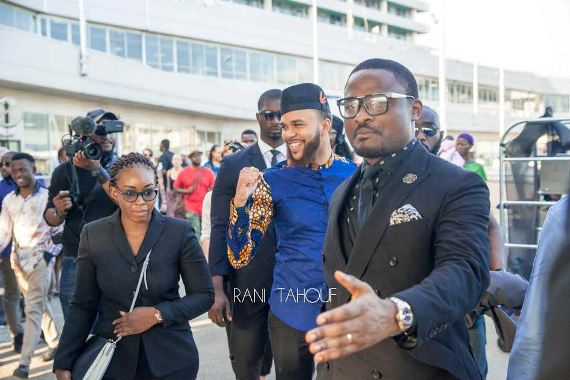 Photos: Jidenna arrives in Lagos