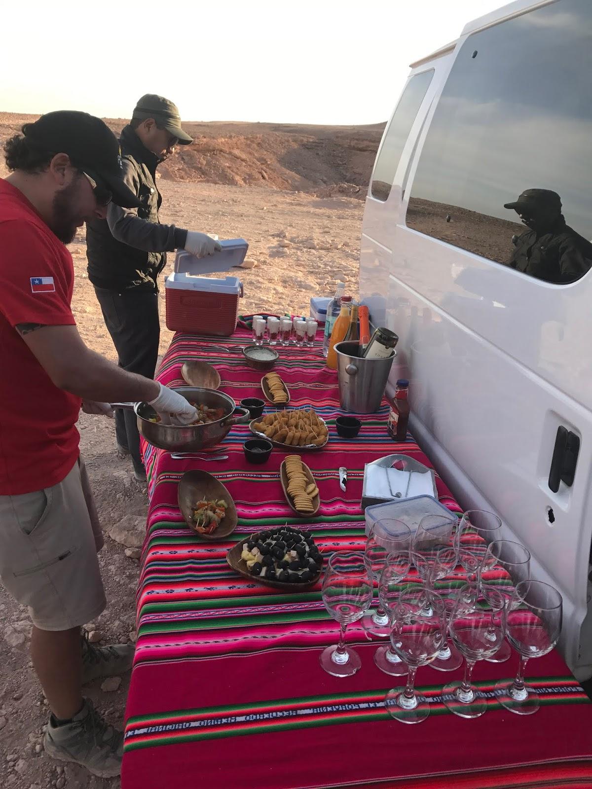 Coquetel no Vale de la Muerte - Deserto do Atacama