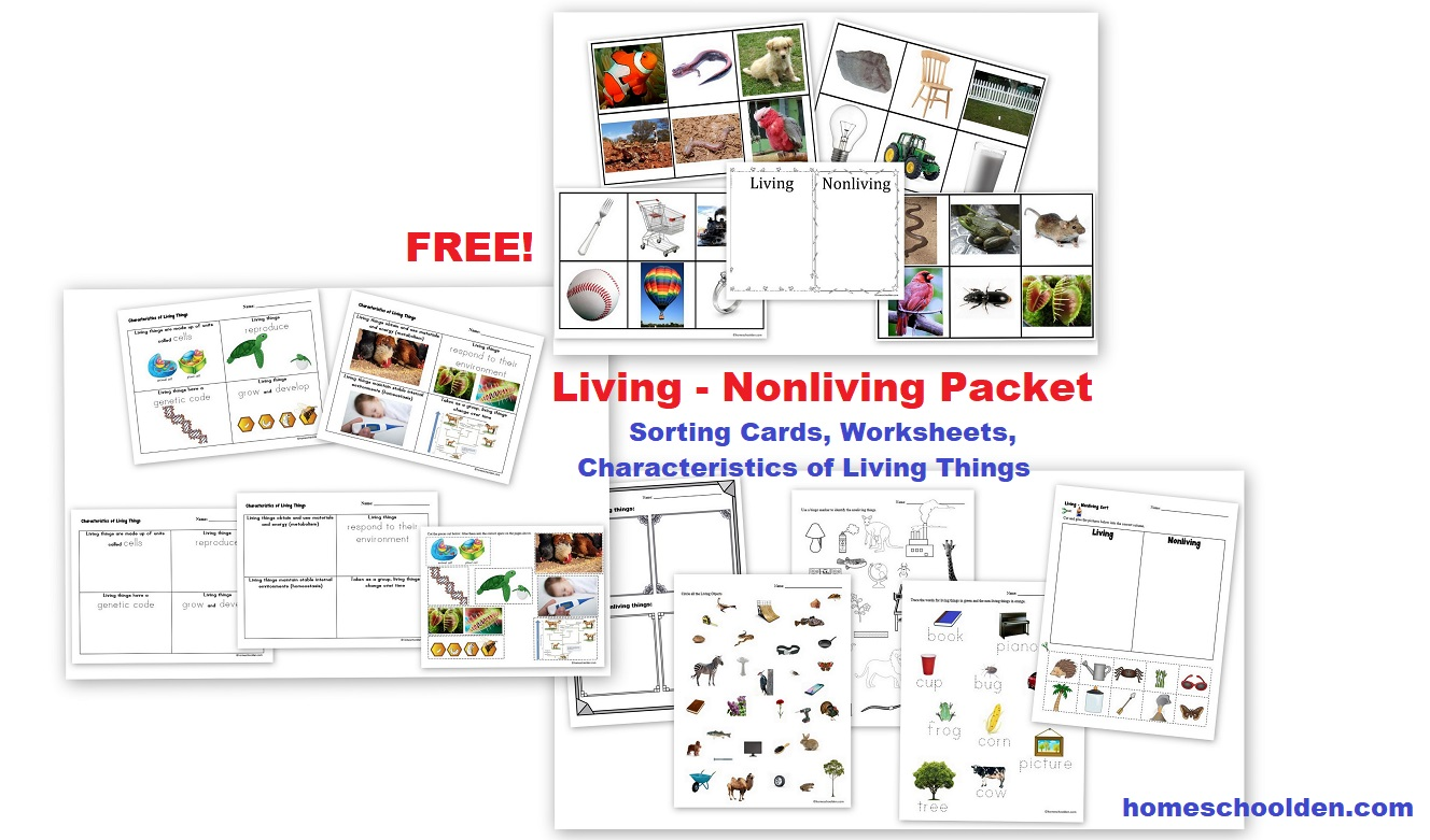 The Homeschool Den Living And Non Living Sorting Activities