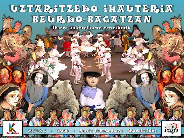 Cartel del carnaval del Ibarra-Kaldu en Beurko-Bagatza