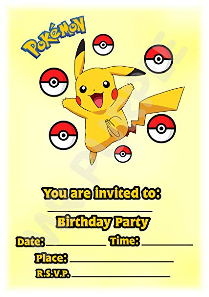 Free Personalized Pokemon Invitations