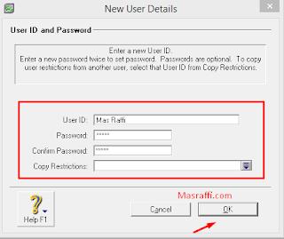 Cara Memberikan Password di Myob