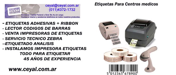 Etiquetas 100 x 60 adhesivas Argentina: zebra zm400 visual
