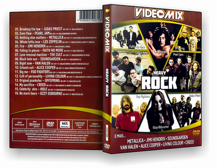 VIDEO MIX HEAVY ROCK DVD-R 2019