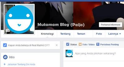 Menambah Nama Lain Pada Profil Facebook