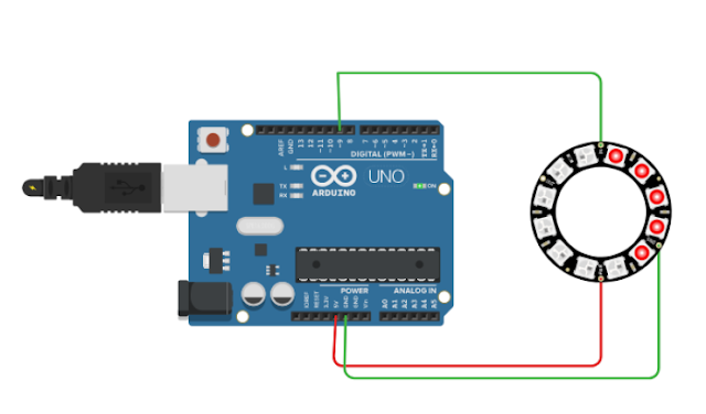 Neopixel ring interfacing with arduino