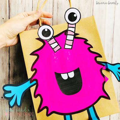 Monster Valentine Bag