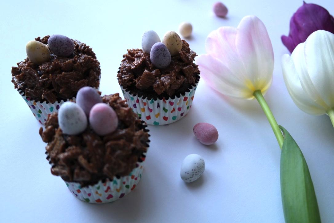 Chocolate Fudge Cake Easter Nest Recipe