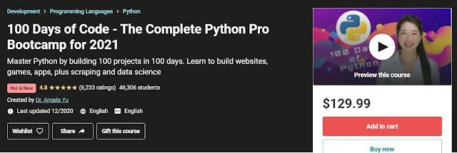 100Days of Code – The Complete Python Pro Bootcamp مترجم للعربية حصريا