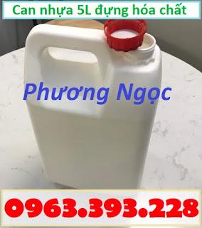 Can nhựa HDPE nguyên sinh, can nhựa đựng hóa chất 5 Lít, can nhựa 5L 1f55c26c927869263069