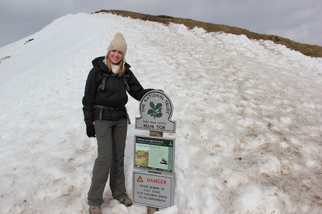 snow at mam tor castleton