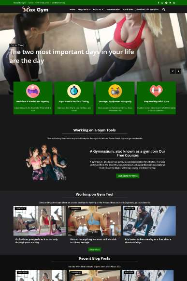Blogger Template Max Gym