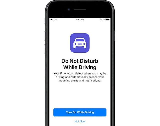 عدم الإزعاج أثناء القيادة Do Not Disturb While Driving