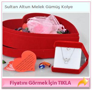 Sultan Altun Melek Gümüş Kolye