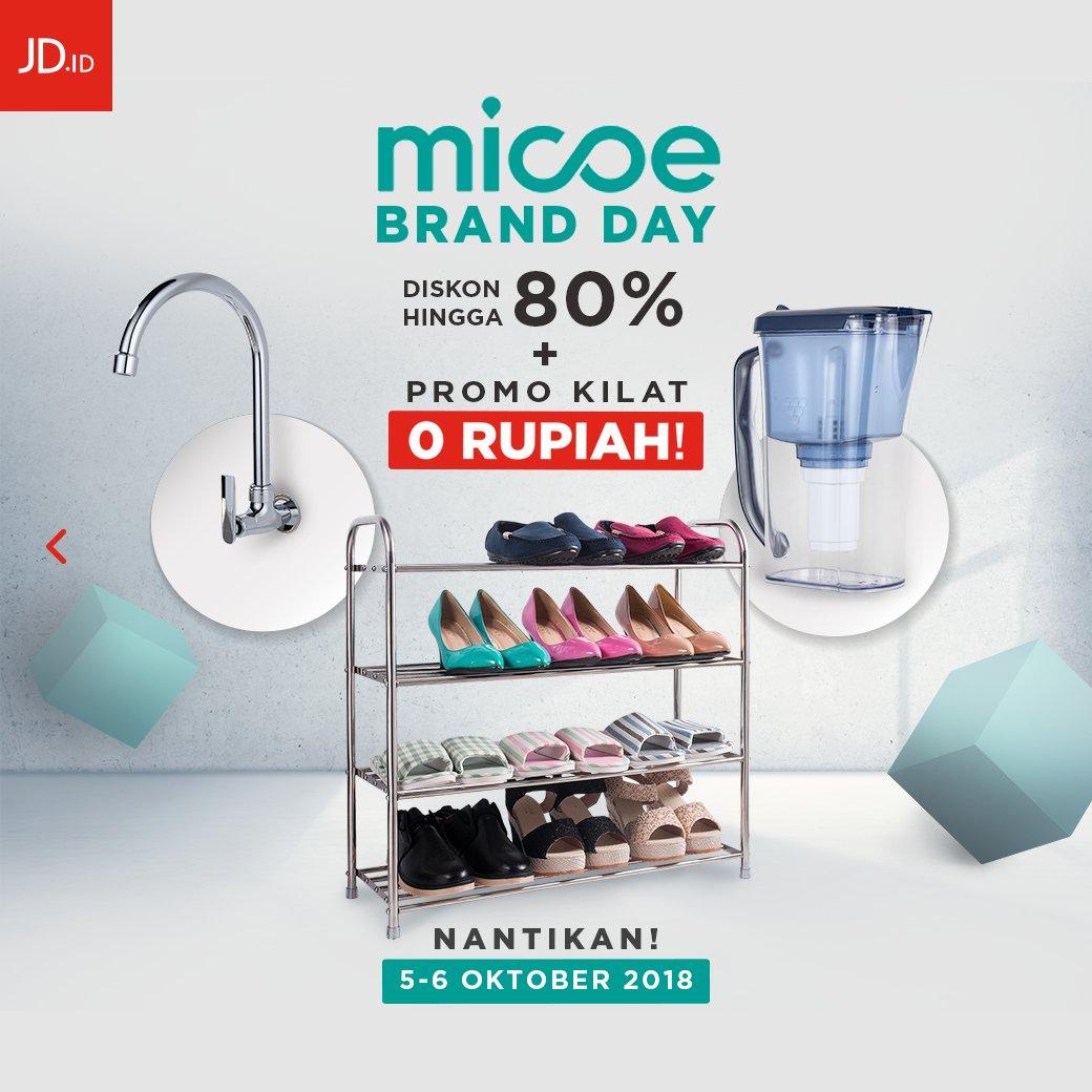 JDID - Promo Diskon 80% + Promo Kilat Nol Rupiah di Micoe Brand Day (5 - 6 Okt 2018)
