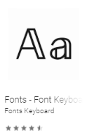Fonts - Font Keyboard for Emoji, Symbols & Kaomoji