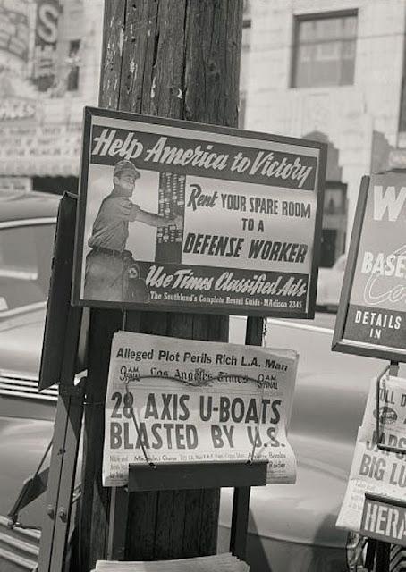 Newsstand in Hollywood, California, ca. 2 April 1942 worldwartwo.filminspector.com