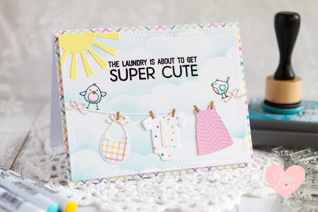 Cute Laundry - A Welcome Baby Card by Ilda