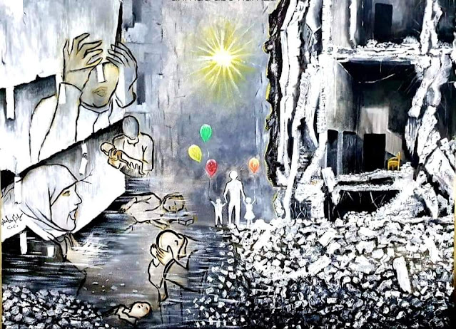ألم, و أمل, جداريات, و لوحات, ثورية