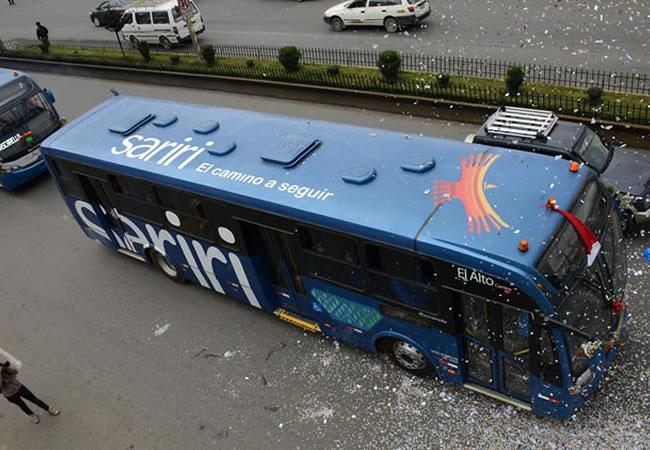 Los buses, hoy llamados Wayna Bus, fueron adjudicados por la gestión Patana / WEB ARCHIVO