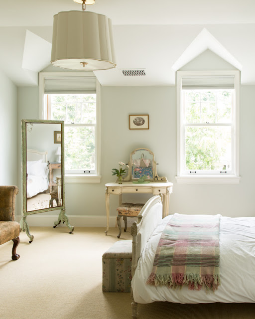 Charming cottage style bedroom with decor by Samantha O'Connor