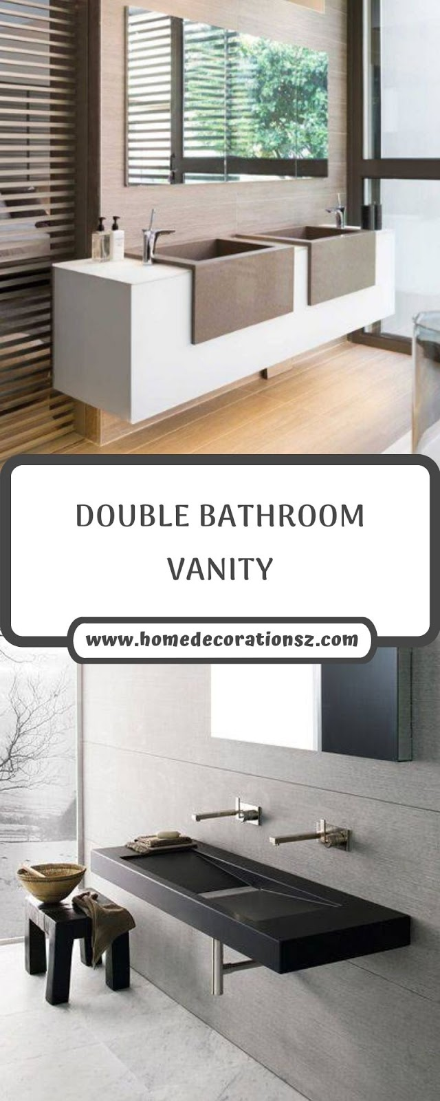 DOUBLE BATHROOM VANITY