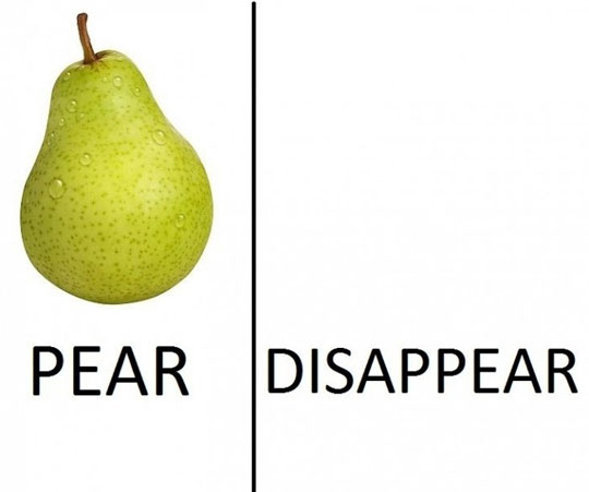 pear magic trick