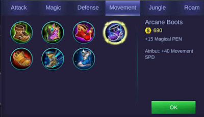 Arcane Boots Mobile Legends Kimmy