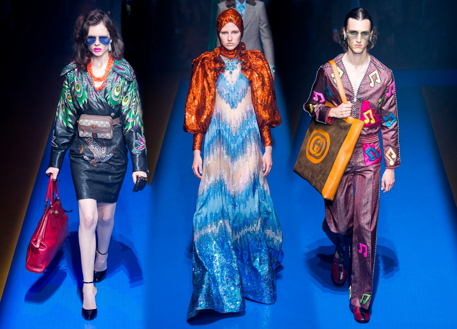 Runway report milan fashion week gucci spring summer for Runway fashion show video
