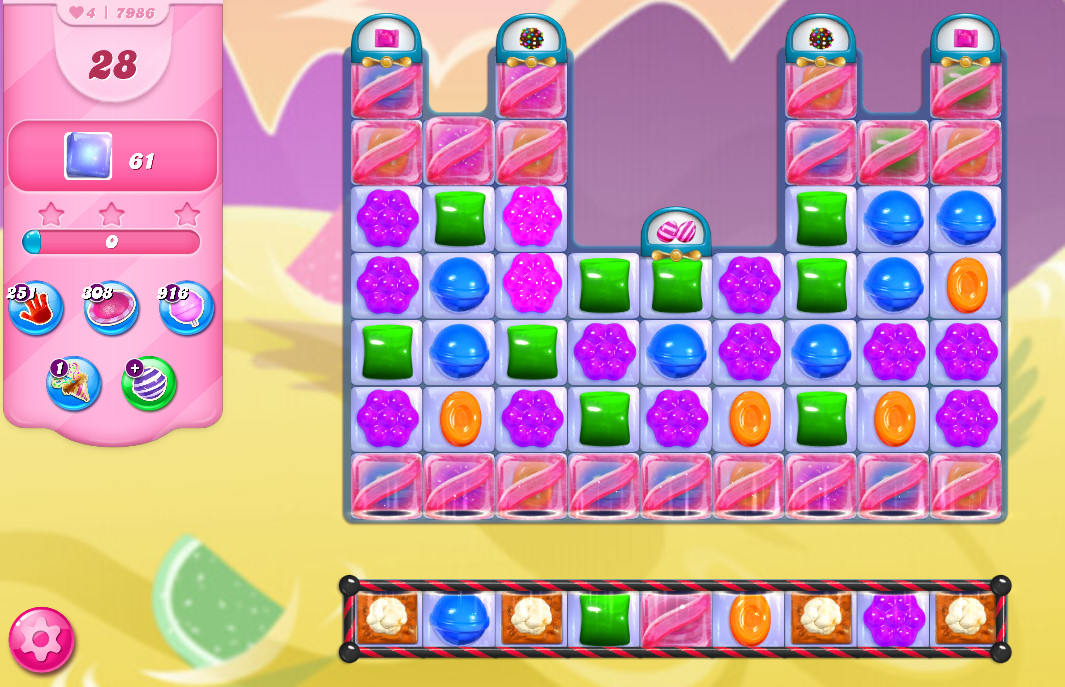 Candy Crush Saga level 7986