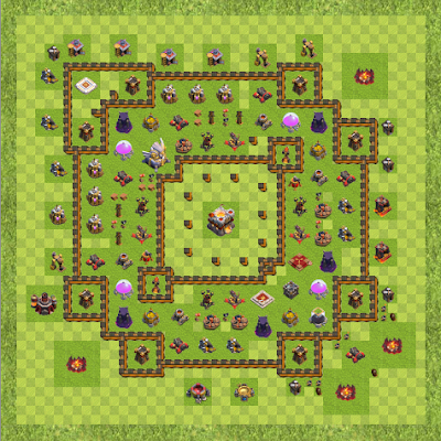 War Base Town Hall Level 11 By James Wong (James COC TH 11 Layout)