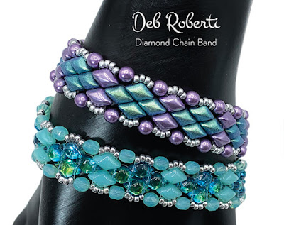 Diamond Chain Band, free GemDuo pattern