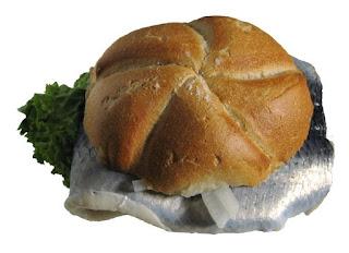 Bismarckhering sandwich