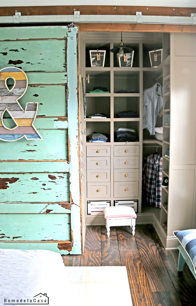 small closet with lots of storage