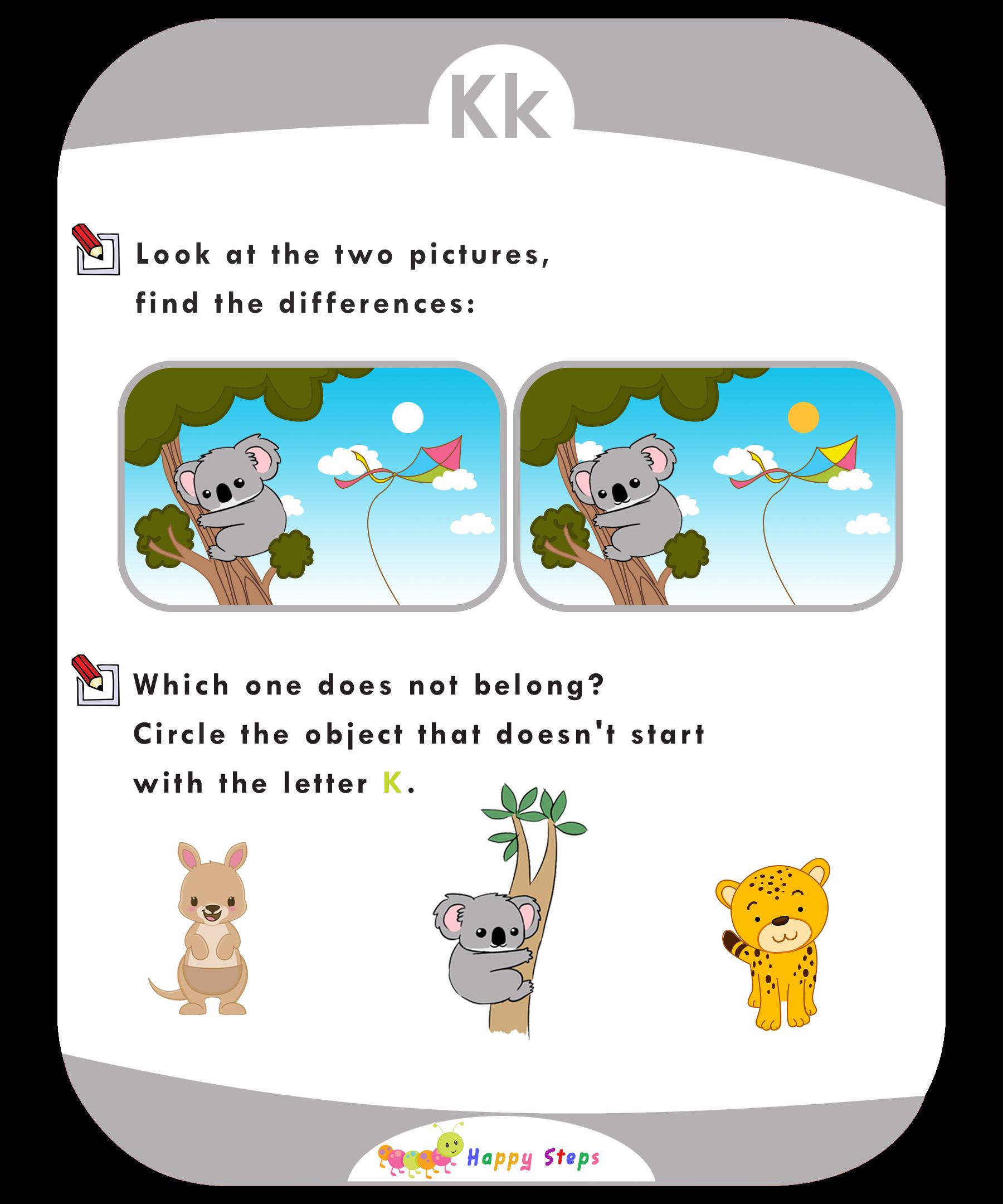 Activity Worksheet 3 Letter K