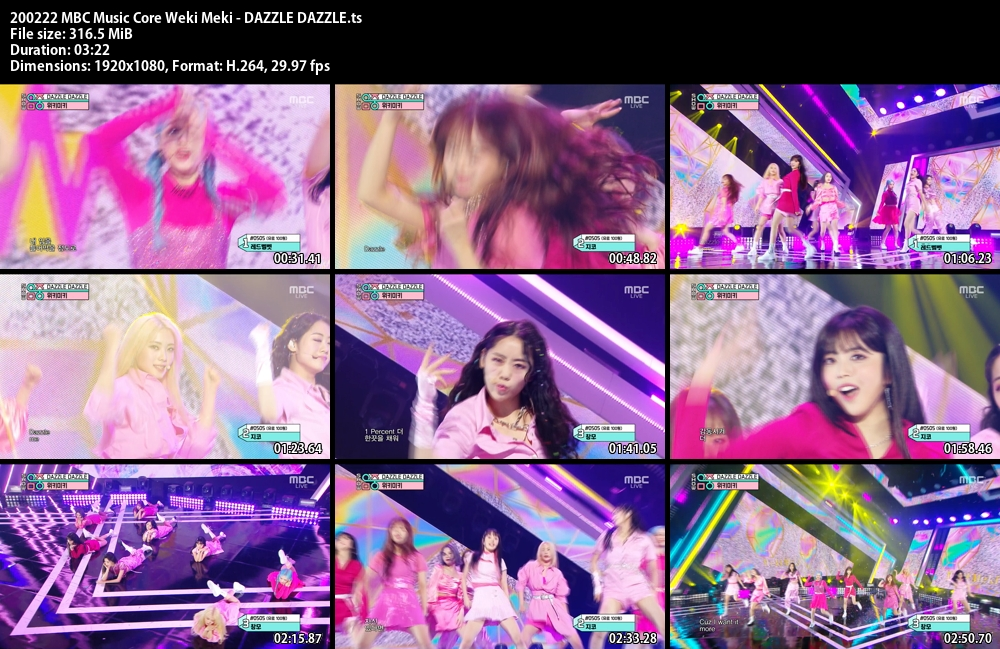 Music Core , Weki Meki , DAZZLE DAZZLE, 1080p , Kpop, 2020