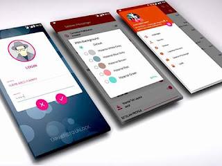 BBM Mod iMessenger v7 Theme Material Desgn v3.0.1.25 Apk terbaru For Android
