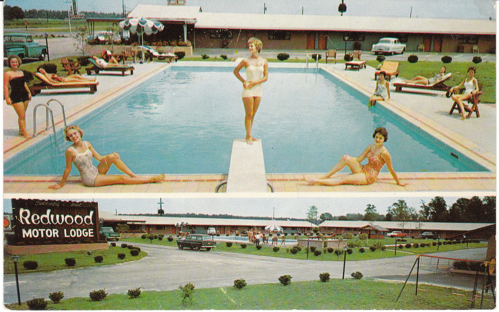 Rooms: View From The Birdhouse: More Mid-Century Motel Postcards
