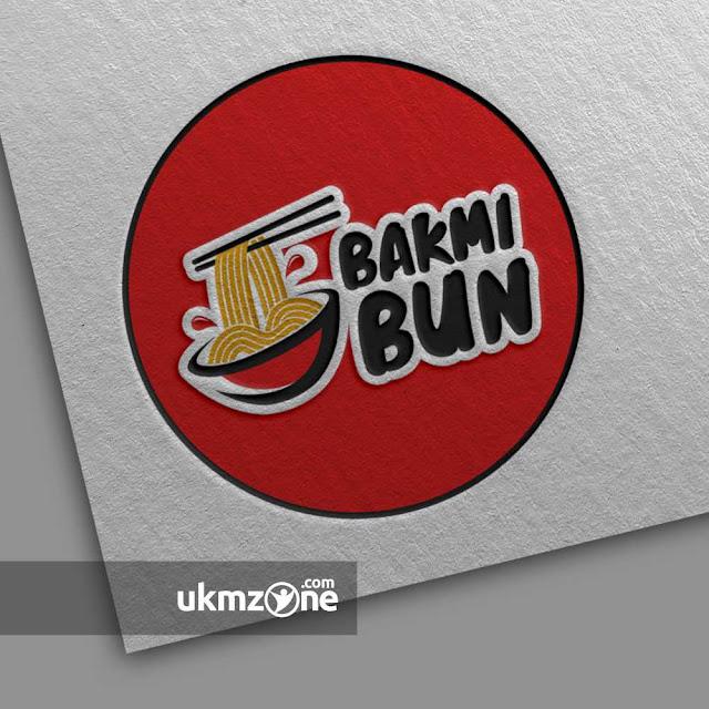 Desain logo untuk usaha UKM UMKM kuliner makanan siap saji mie Bakmi Bun