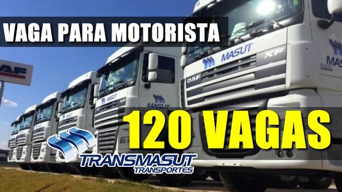 Transportadora Masut abre 120 vagas para Motorista