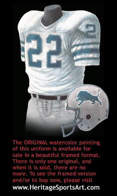 Detroit Lions 1980 uniform