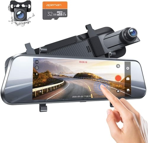 APEMAN C750 Car Dash Cam Dual 1080P Front and Rear