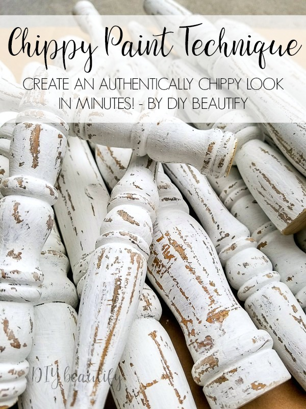 easy and authentic chippy painted spindles