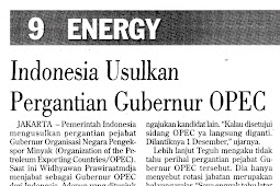 Indonesia Proposes OPEC Governor Change