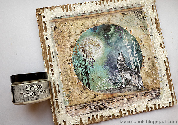 Layers of ink - Magical Nature Wall-Hanging Tutorial by Anna-Karin. Add crackle paste. Evaldsson.